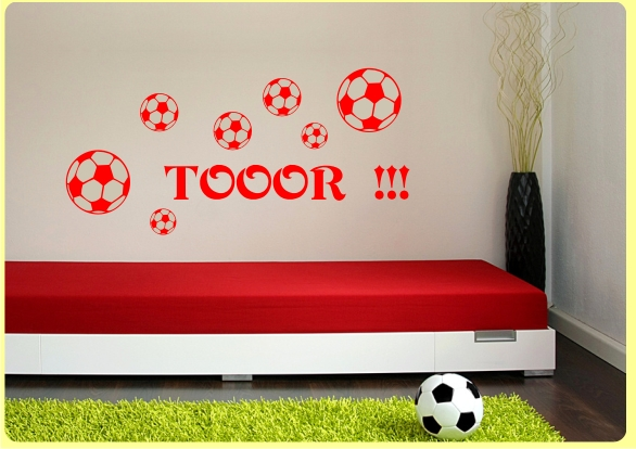 wi004 fussball tor wandtattoo kinderzimmer ebay. Black Bedroom Furniture Sets. Home Design Ideas